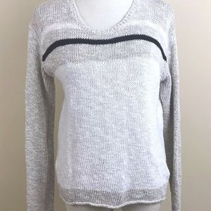 James Perse 2 Beige Cable Knit Pullover Sweater